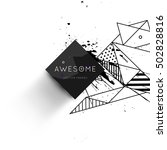 geometric background template... | Shutterstock .eps vector #502828816