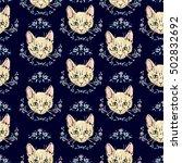 cats kittens cute sketch vector ...   Shutterstock .eps vector #502832692