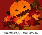 autumn pumpkin | Shutterstock .eps vector #502839256