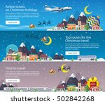 christmas travel banners in... | Shutterstock .eps vector #502842268