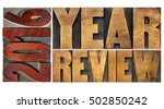 2016 review banner   annual... | Shutterstock . vector #502850242