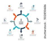 vector arrows infographic.... | Shutterstock .eps vector #502850686