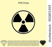 flat radiation icon   Shutterstock .eps vector #502851505