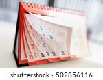 months and dates shown on a... | Shutterstock . vector #502856116