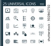 set of 25 universal editable... | Shutterstock .eps vector #502861732
