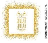 golden sparkle christmas... | Shutterstock .eps vector #502861876