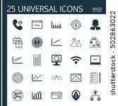 set of 25 universal editable