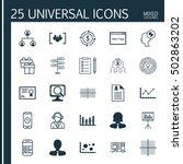 set of 25 universal editable... | Shutterstock .eps vector #502863202