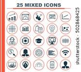 set of 25 universal editable... | Shutterstock .eps vector #502868425