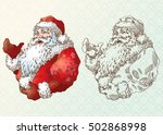 Santa Claus In Engraving Style