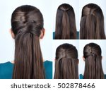 Simple Half Up Hairstyle With...