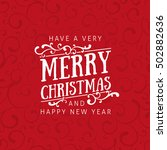 red christmas card with... | Shutterstock .eps vector #502882636