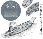 thailand travel design....   Shutterstock .eps vector #502884115