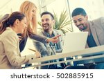 Stock photo group of business people business people sharing their ideas 502885915