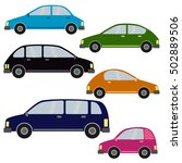 set of different car types.... | Shutterstock . vector #502889506