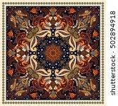 design for square pocket  shawl ... | Shutterstock .eps vector #502894918