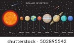 planets vector set on dark... | Shutterstock .eps vector #502895542