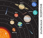 planets vector set on dark... | Shutterstock .eps vector #502895548