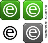 enternet square buttons. black... | Shutterstock .eps vector #50289670