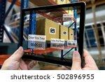 industrial 4.0   augmented... | Shutterstock . vector #502896955