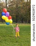 toddler in the park with... | Shutterstock . vector #502903972