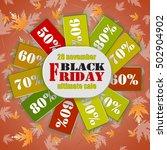 black friday banner. vector... | Shutterstock .eps vector #502904902