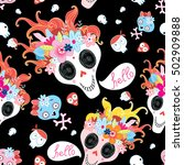 bright seamless pattern for... | Shutterstock .eps vector #502909888