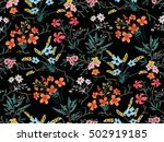 Stock vector seamless floral pattern in vector 502919185