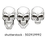 one skull in different guises.... | Shutterstock .eps vector #502919992