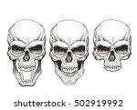one skull in different guises.... | Shutterstock .eps vector #502919992