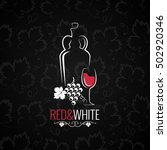 wine glass logo design... | Shutterstock .eps vector #502920346