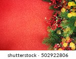 family holiday  christmas tree... | Shutterstock . vector #502922806