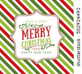 christmas background with... | Shutterstock .eps vector #502924492