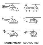 helicopters icons set. aircraft ... | Shutterstock .eps vector #502927702