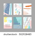 set of creative universal cards.... | Shutterstock .eps vector #502928485