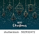 geometric christmas decoration... | Shutterstock .eps vector #502932472