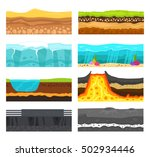 illustration of cross section... | Shutterstock .eps vector #502934446