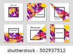abstract vector layout... | Shutterstock .eps vector #502937512