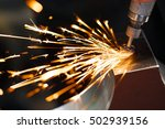 drill with diamond tipped... | Shutterstock . vector #502939156