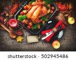 thanksgiving dinner ...   Shutterstock . vector #502945486