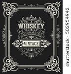 old whiskey label. | Shutterstock .eps vector #502954942