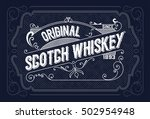 vintage label design for... | Shutterstock .eps vector #502954948