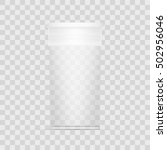 empty transparent cylindrical...   Shutterstock .eps vector #502956046