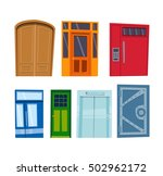 door isolated on white | Shutterstock .eps vector #502962172