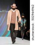 moscow   october 14  model... | Shutterstock . vector #502964962
