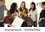 group of people shopping concept | Shutterstock . vector #502965982