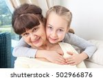 senior lady with granddaughter... | Shutterstock . vector #502966876