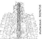 abstract urban city building... | Shutterstock .eps vector #50296735