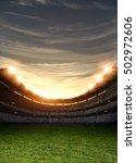 stadium light 3d rendering | Shutterstock . vector #502972606