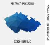 czech republic map in geometric ... | Shutterstock .eps vector #502979422